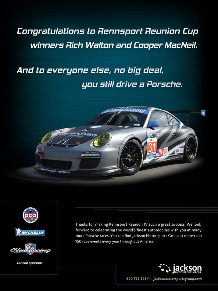 jordan fretz design rennsport reunion cup racing ad design